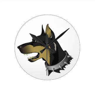 Relógio Redondo cão 96Angry _rasterized