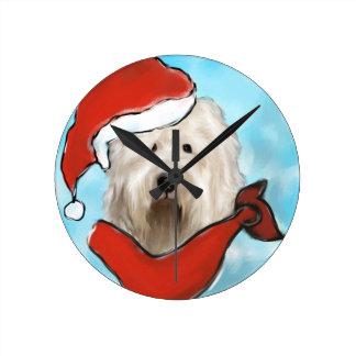Relógio Redondo Cão de carneiros inglês velho
