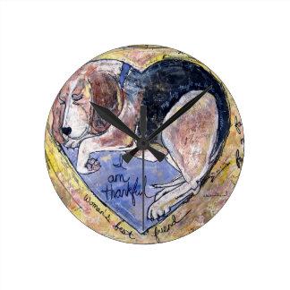 Relógio Redondo Cão do anjo
