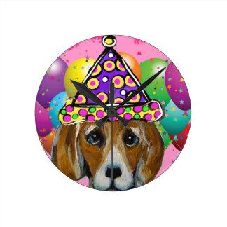 Relógio Redondo Cão do partido do lebreiro
