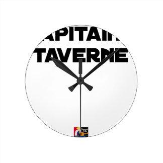 Relógio Redondo CAPITÃO TABERNA - Jogos de palavras - François