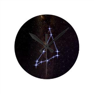 Relógio Redondo Capricórnio do sinal da estrela