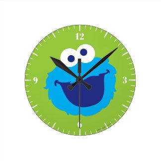 Relógio Redondo Cara do monstro do biscoito