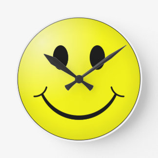 Relógio Redondo Cara feliz