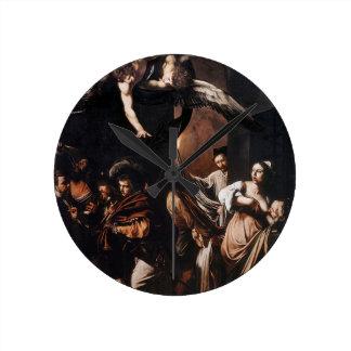 Relógio Redondo Caravaggio - os sete trabalhos da pintura do