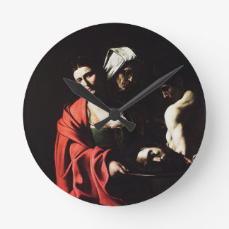 Relógio Redondo Caravaggio - Salome - trabalhos de arte barrocos