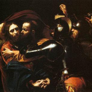 d2a22bac08d Relógio Redondo Caravaggio - tomada do cristo - trabalhos de arte