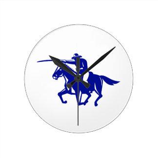 Relógio Redondo Carregamento americano da cavalaria retro