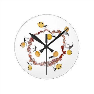 Relógio Redondo Carrossel da formiga de mel