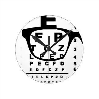 Relógio Redondo Carta de teste do olho de Blurr