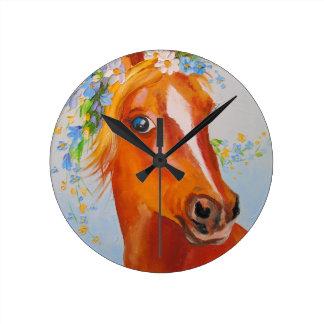 Relógio Redondo Cavalo bonito