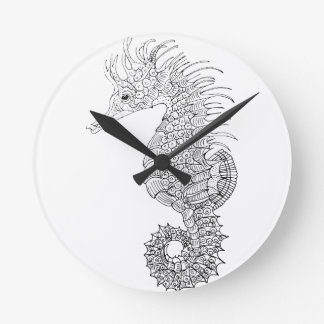 Relógio Redondo Cavalo de mar