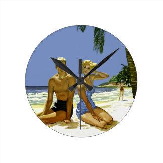 Relógio Redondo Cena da praia