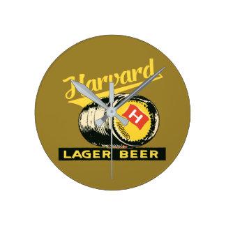 Relógio Redondo Cerveja de cerveja pilsen de Harvard