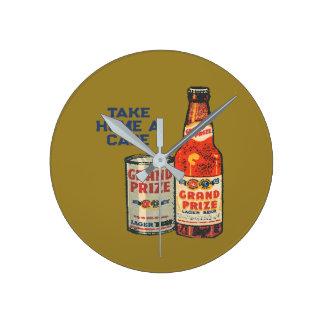 Relógio Redondo Cerveja de cerveja pilsen premiada grande neta um