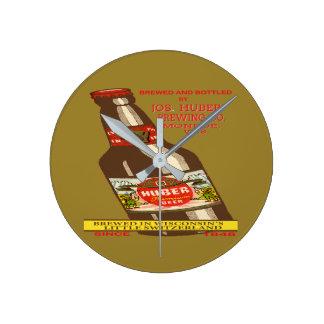 Relógio Redondo Cerveja de Huber
