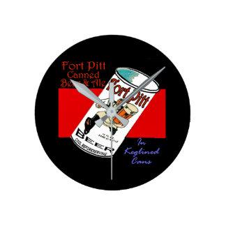 Relógio Redondo Cerveja de Pitt do forte