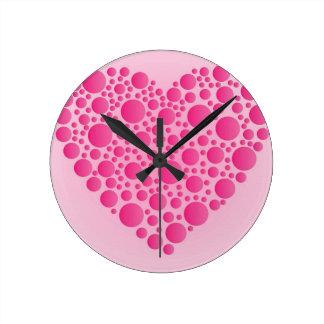 Relógio Redondo Cervo cor-de-rosa da bolha
