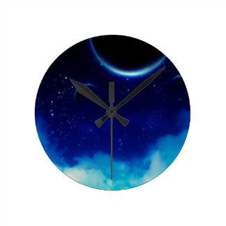 Relógio Redondo Céu nocturno estrelado