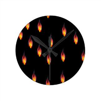 Relógio Redondo Chamas do fogo