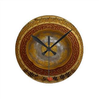 Relógio Redondo Chapa chinesa da flor