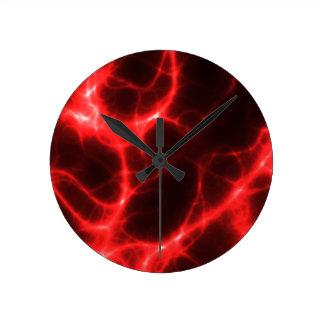 Relógio Redondo Choque eléctrico no vermelho