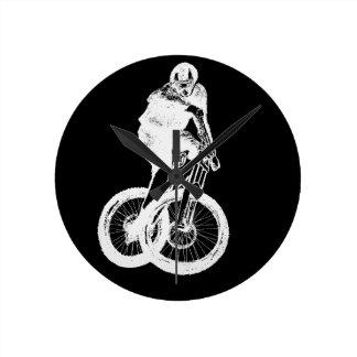 Relógio Redondo CICLISTA do motociclista MTB BMX da montanha