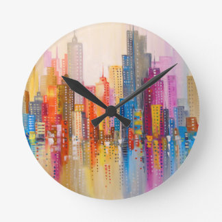 Relógio Redondo Cidade do arco-íris