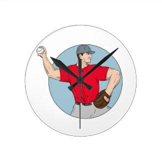 Relógio Redondo Círculo de jogo Dracma da bola do jarro americano
