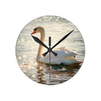 Relógio Redondo cisne