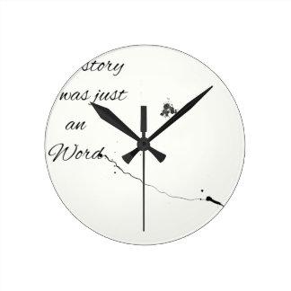 Relógio Redondo Citações da palavra