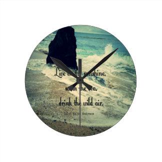 Relógio Redondo Citações do mar do oceano da luz do sol