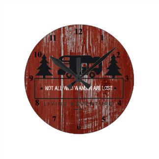 Relógio Redondo Citações vermelhas não tudo do viagem da madeira |