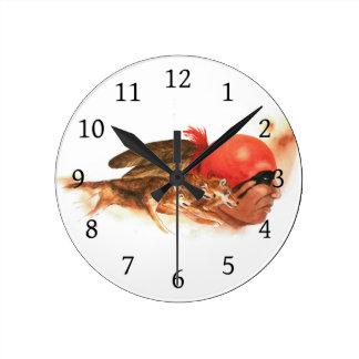Relógio Redondo Clã do lobo do nativo americano