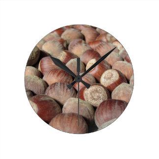 Relógio Redondo Close up da fruta do outono do fundo da comida das