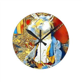 Relógio Redondo Coelho do circo