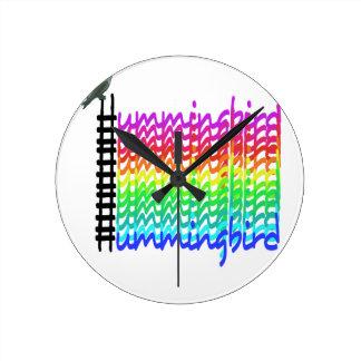 Relógio Redondo Colibri colorido