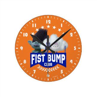 Relógio Redondo Colisão do punho dos troll |