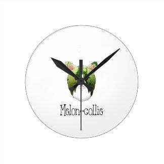 Relógio Redondo collie do melão