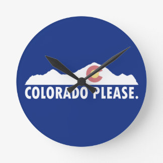 Relógio Redondo Colorado por favor
