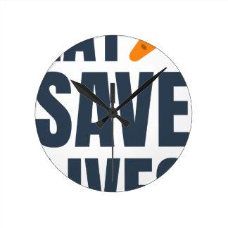 Relógio Redondo Coma o Vegan - vidas das economias