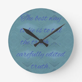 Relógio Redondo Cómico como dizer a mentira Quiote de A