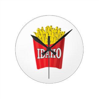 Relógio Redondo Comida lixo de Idaho