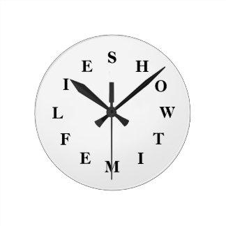 Relógio Redondo Como o tempo voa branco fume médio cronometram por