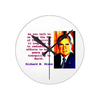 Relógio Redondo Como você nos fala - Richard Nixon