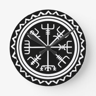 Relógio Redondo Compasso de Viking Vegvisir