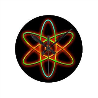 Relógio Redondo Conceito atômico