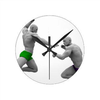 Relógio Redondo Conceito das artes marciais para a luta e a