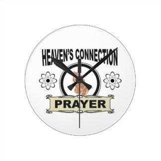Relógio Redondo conexão dos céus