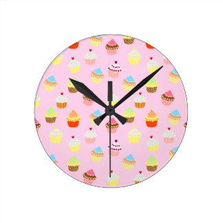 Relógio Redondo Confetes do cupcake